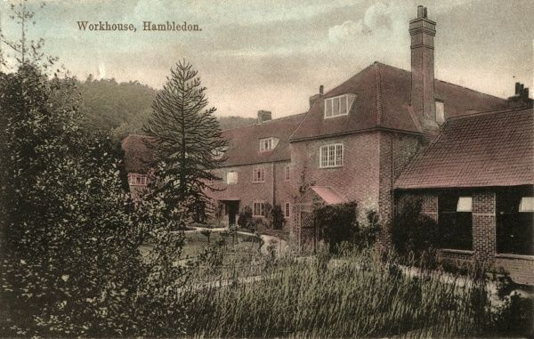 The Hambledon Union workhouse, a building originally erected in 1786 for 'the united parishes of Bramley, Chiddingfold, Dunfold and Hambledon