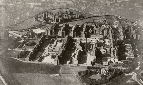 Aerial view of the Manchester Union workhouse and infirmary at Crumpsall