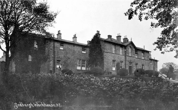The Sedbergh Union workhouse erected in 1857 at the south of Sedbergh, North Yorkshire (now Cumbria)