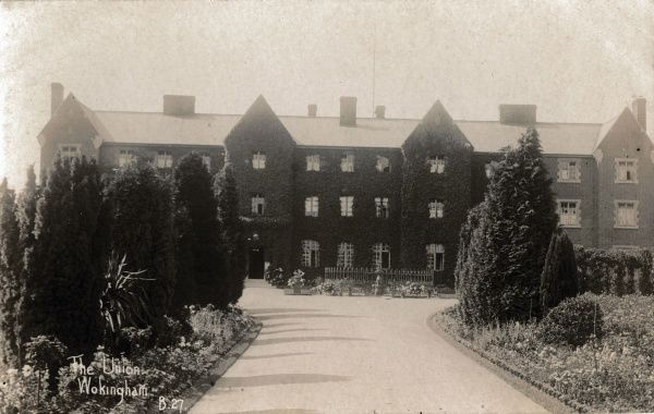 The Wokingham Union workhouse, Berkshire. The workhouse, opened in 1850 on Barkham Road, Wokingham, later became Wokingham Hospital