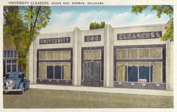 The University Cleaners - Norman, Ohio Date: circa 1940