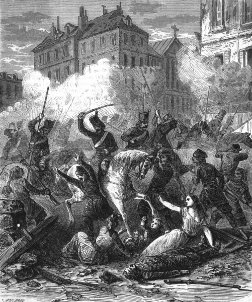 Uprising in Warsaw, one of many attempts to free Poland from Russian dominion - vigorously suppressed, leading to the famous quotation: 'L'ordre regne a Warsaw' Date: 1830