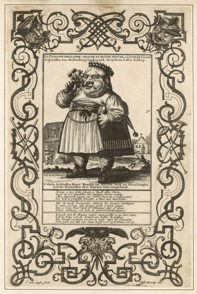 'The comical peasant woman', small, fat and round