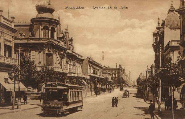 Uruguay - Montevideo - 18th of July Avenue Date: circa 1910s