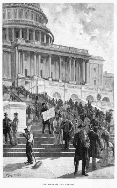 The steps of the Capitol building