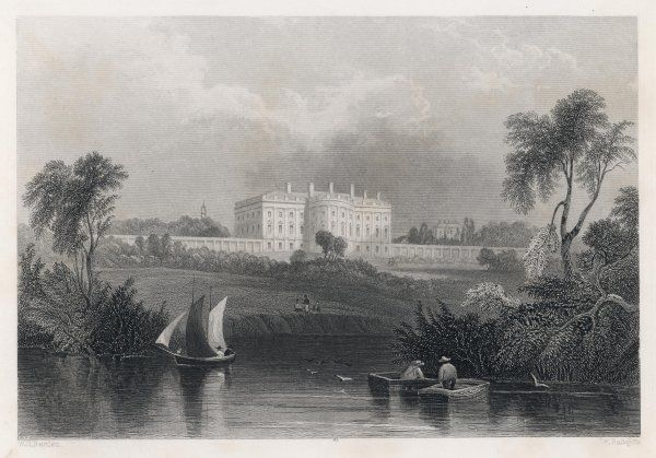The White House (or 'Presidents House' as termed here) viewed from the river