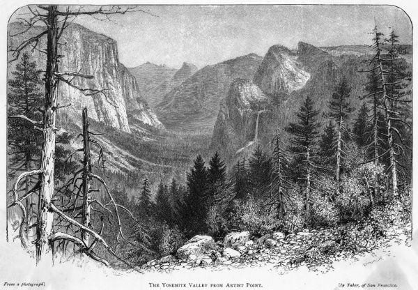 The Yosemite valley viewed from Artist Point