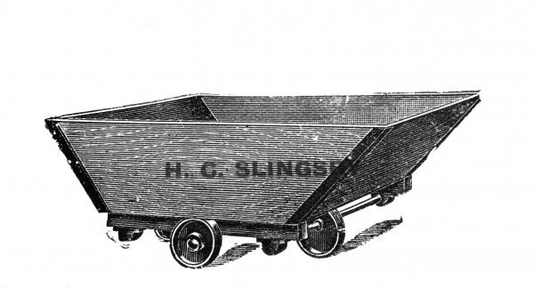 A 'useful box truck', one of hundreds of types of trucks and trolley's available in Slingsbys Patent Trucks List