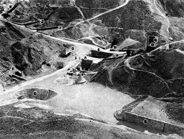 Photograph of the Valley of the Kings, Thebes where the excavation of the Tomb of Tutankhamun took place