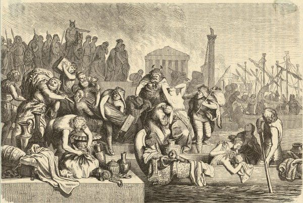 Rome is sacked, plundered, looted by Gaiseric and his fellow-Vandals