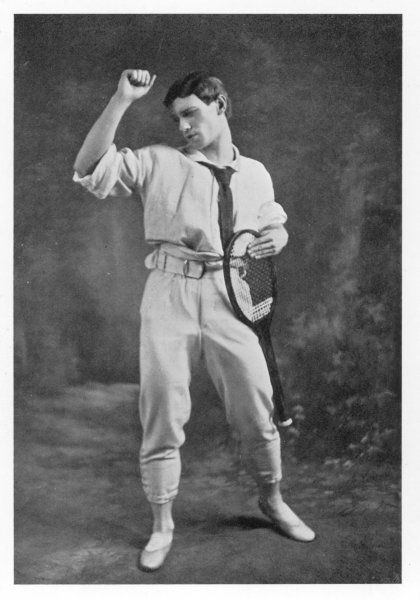 VASLAV NIJINSKY Russian ballet dancer and choreographer, seen here in his tennis outfit for 'Jeux&#39