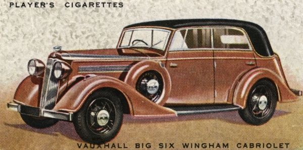 Vauxhall Big Six Wingham cabriolet, five-seater family car. Date: 1936