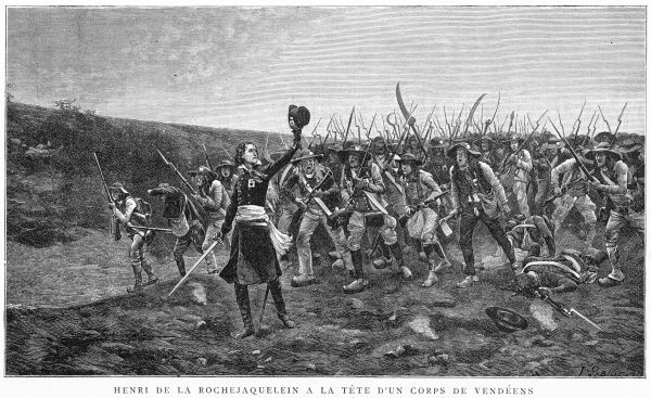 'If I retreat, shoot me : if I advance, follow me : if I am killed, avenge me.' Vendee commander Larochejacquelein leads his men heroically, but he will be killed in action