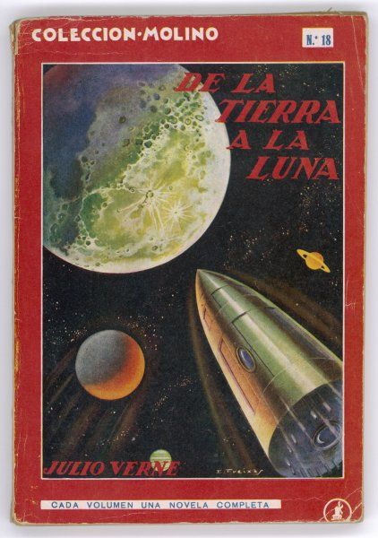 'DE LA TERRA A LA LUNA' ('From the Earth to the Moon') The moon-projectile approaches its destination