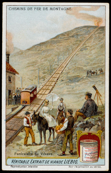 Negotiating the lava flow on the upper slopes of Vesuvius was an exhausting business until this funicular was constructed in the 1880s, commemorated in popular song