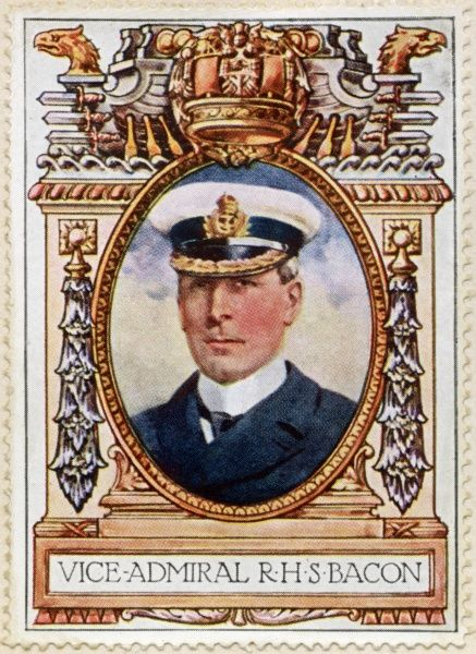 Admiral SIR REGINALD HUGH SPENCER BACON, KCB, KCVO, DSO (1863-1947) Royal Navy officer noted for his technical abilities and once acknowledged to be the cleverest officer in the Navy. The first captain of the battleship Dreadnough&quot