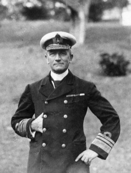 Vice Admiral (later Admiral) Sir George Edwin Patey (1859-1935), British Royal Navy officer, Commander of the Australian Fleet during the First World War. Date: circa 1913-1915
