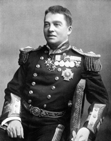 Vice Admiral Sir John Arbuthnot Fisher, 1st Baron Fisher of Kilverstone (1841-1920), later Admiral of the Fleet, British Royal Navy. Seen here in full ceremonial uniform. Date: circa 1896
