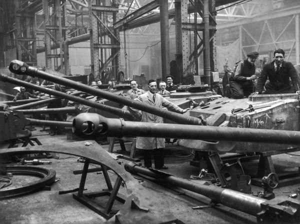 Interior of Vickers-Armstrong tank factory