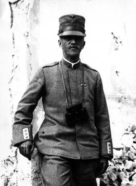 Victor Emmanuel III (1869-1947), King of Italy (reigned 1900-1946). Seen here during the First World War, wearing uniform, with binoculars round his neck. Date: circa 1915-1918