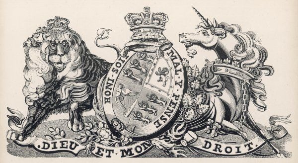 The royal coat of arms of Britain during Victoria's reign