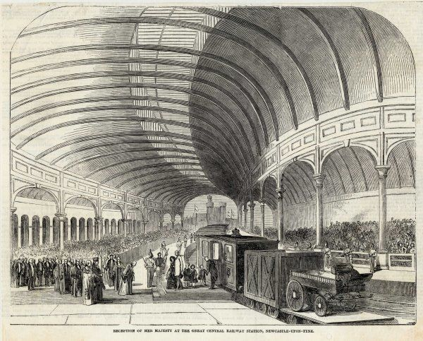 Reception of Queen Victoria at the Central Railway Station, Newcastle-Upon-Tyne