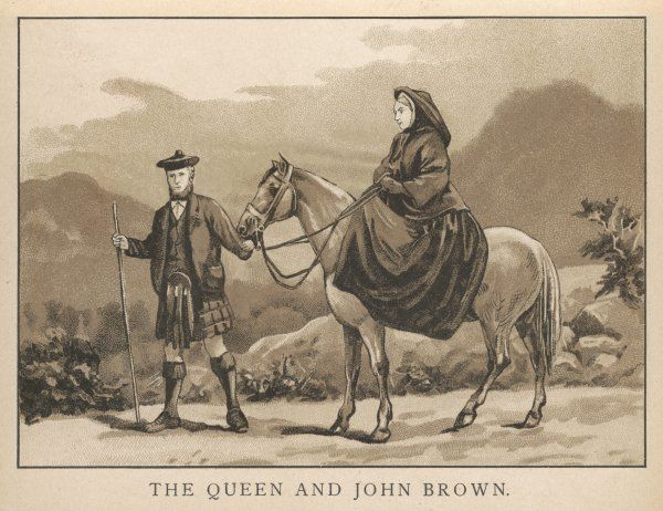 WITH JOHN BROWN VICTORIA with her Highland servant. (1886)