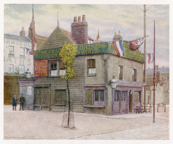 This picturesque little pub was built in the early 1700s. Queen Victoria drove past it on her way to opening the central hall of the People's Palace in 14 May 1887 (1 of 2)