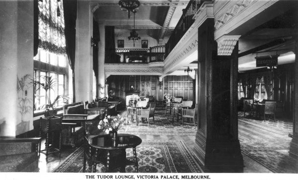 Tudor Lounge of the Victoria Palace Hotel in Melbourne, Australia