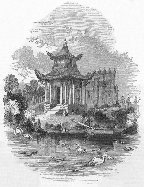 The Chinese pagoda in Victoria Park, east London