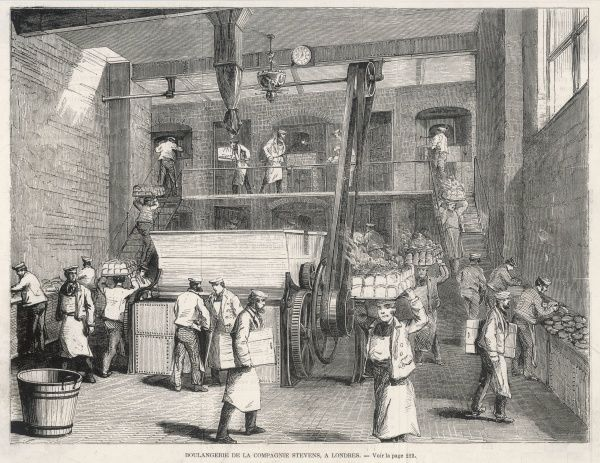 A big London bakery of Victorian times - the Stevens Company bakery, London