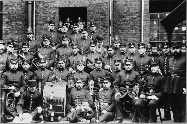 Metropolitan Police G Division, Victorian Police Band with their musical instruments