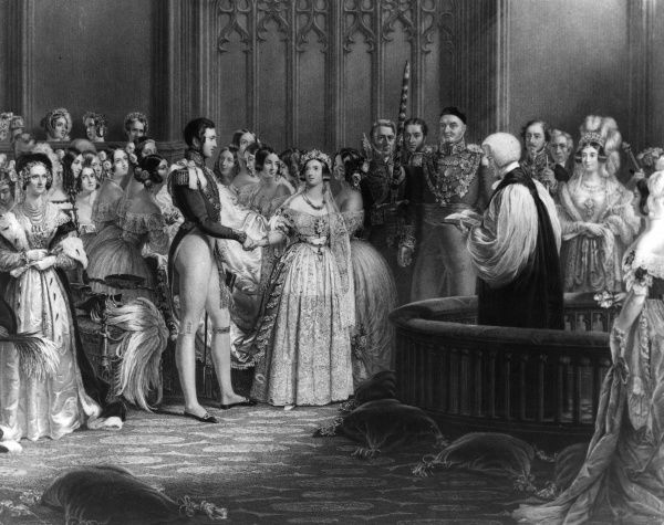 Illustration showing Queen Victoria's Wedding