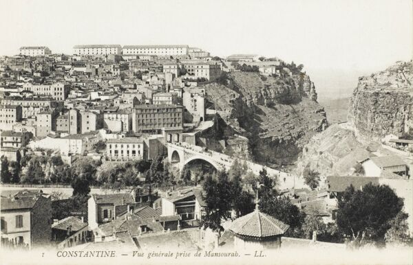 A view of the Mansoura District, Constantine, Algeria