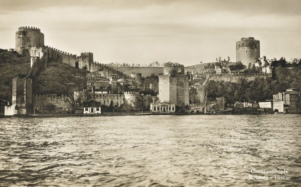 View toward the Rumeli Hisari, a Fortress on the European side of the Bosphorus
