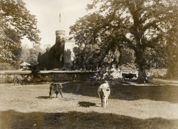 View of Tulloch Castle in the town of Dingwall in the Highlands of Scotland, at the time of a royal wedding between Dom (Prince) Miguel of Braganza (1878-1923), Duke de Viseu, eldest son of Duke Miguel, grandson of a former King of Portugal