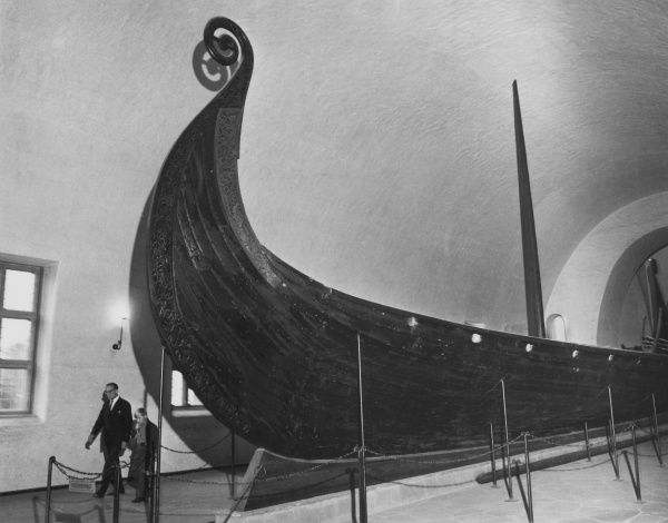 A Viking longship in a museum in Norway. Date: 5th century