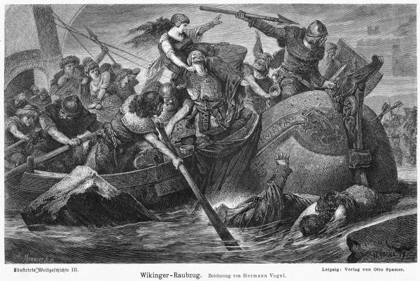 A Viking raid - women abducted