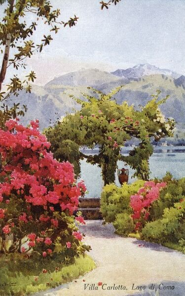 Villa Carlotta on the banks of Lake Como, Italy Date: circa 1910s