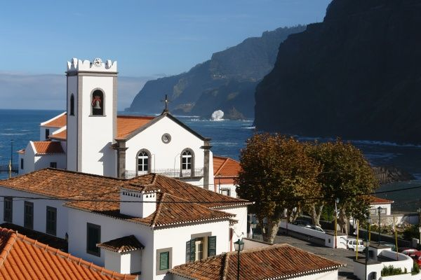 The village church at Ponta Delgada, in the district of Sao Vicente on the north coast of Madeira