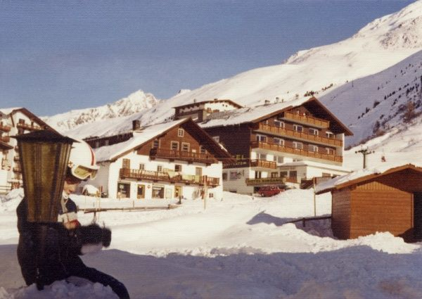 Scene in the village of Obergurgl, Austria. Date: 1976