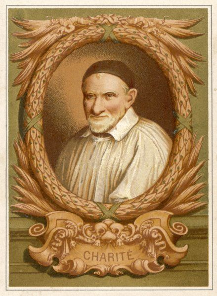 saint VINCENT DE PAUL French divine, noted for his charitable works ; he founded the Congregation of the Mission in 1625