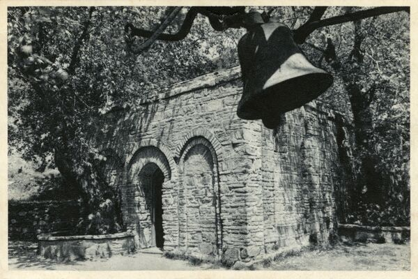 The Virgin Mary's House located on Mt. Koressos close to Ephesus, Turkey. The visions of Anne Catherine Emmerich led to the discovery of the house. Date: 1957