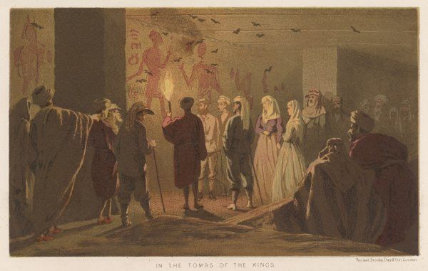 On a royal tour, Edward and Alexandria visit the Tombs of the Pharaohs in the Valley of the Kings