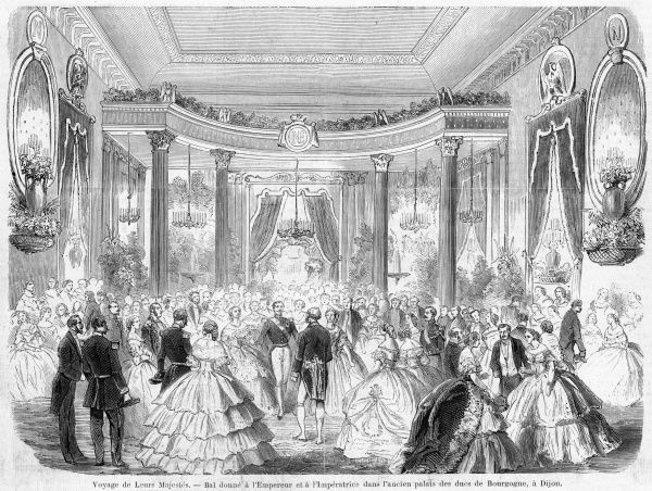 Napoleon and Eugenie visit Dijon, where they attend a ball held in the old palace of the ducs de Bourgogne