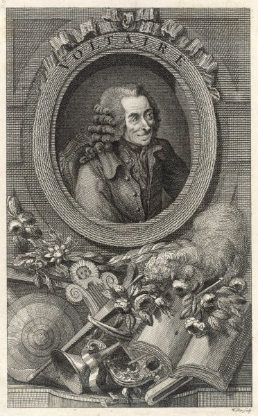 FRANCOIS-MARIE AROUET a celebratory portrait of the French writer and philosopher