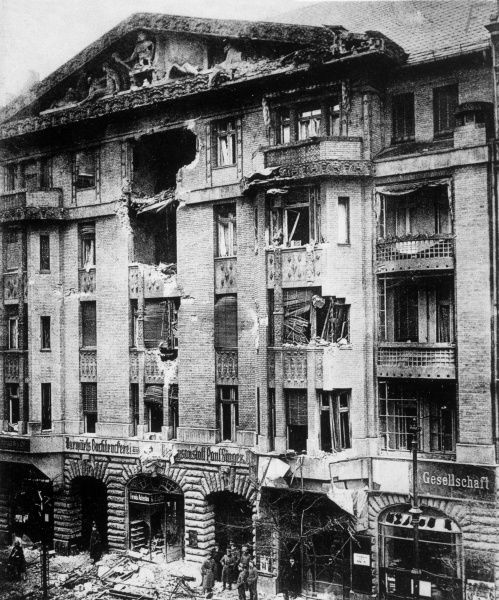 The Vorwaerts building after the fighting in the Newspaper District during the Spartacist Uprising