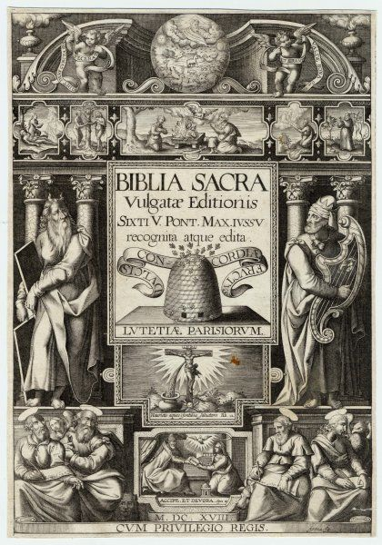 The title page of the Vulgate Bible (printed in Latin)