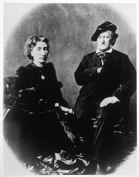 RICHARD WAGNER German musician, at age 70, with his wife Cosima