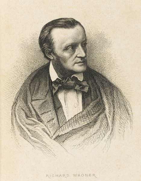Wilhelm Richard Wagner, in 1860. Major German composer, conductor, and theatre director. Most noted for the monumental four opera cycle Der Ring des Nibelungen